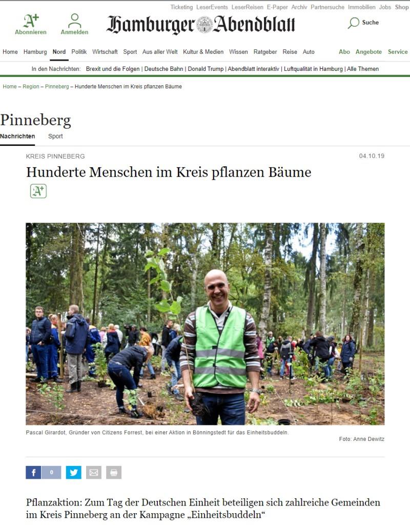 Hamburger Abendblatt vom 4.10.2019