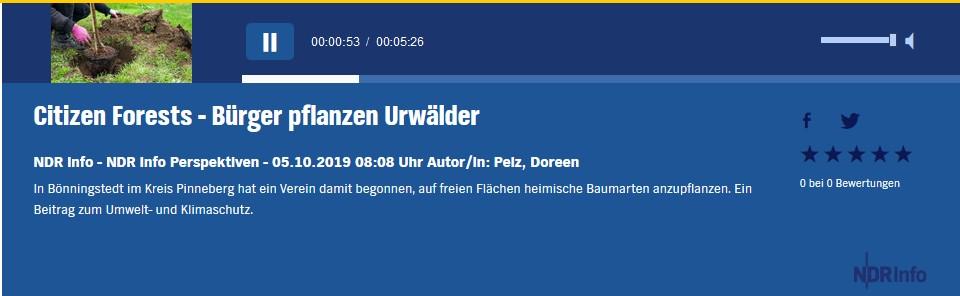 NDR Info Beitrag vom 05102019