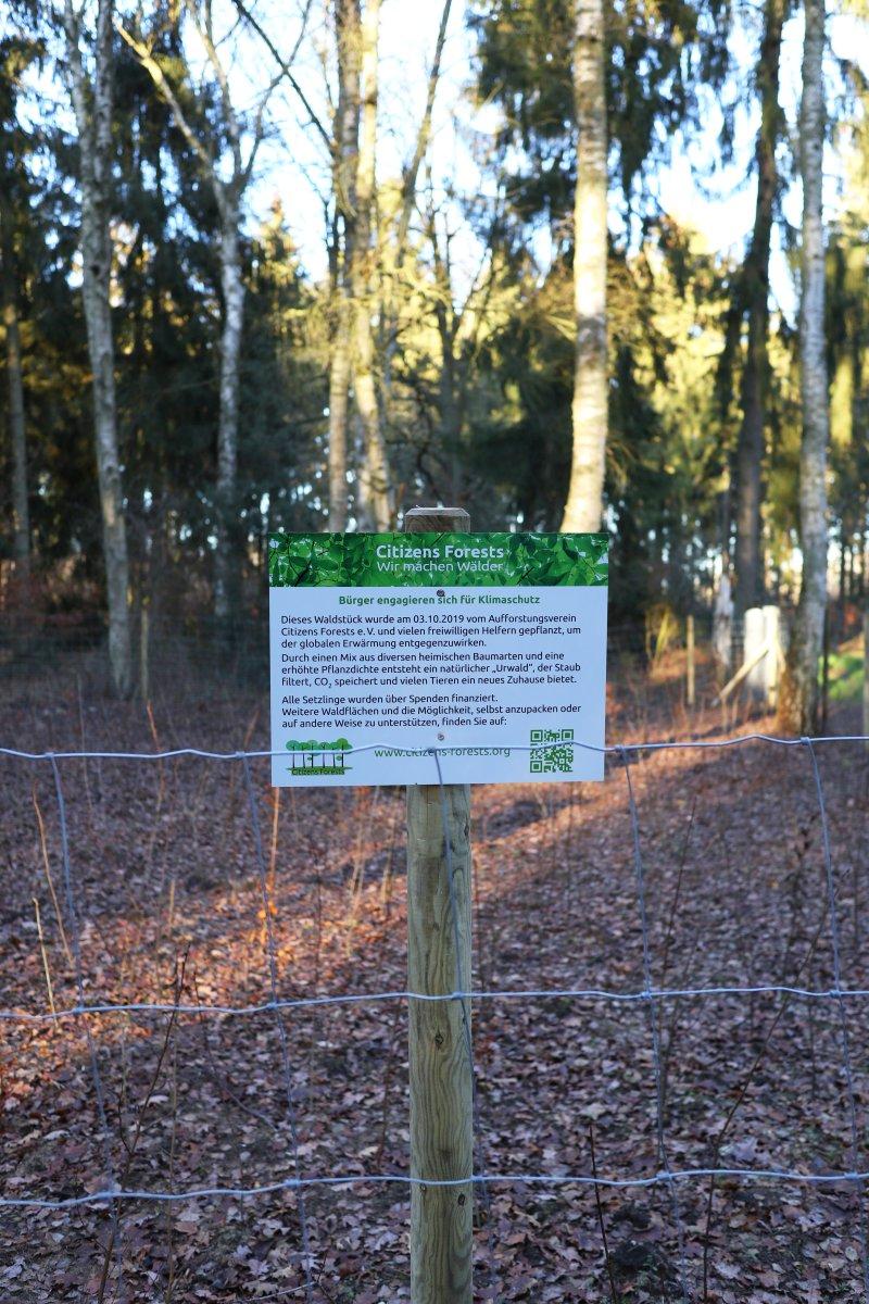 Schilder Citizens Forests Aufforstung